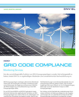 Grid Code Compliance Monitoring Services
