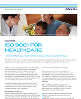 ISO 9001 for healthcare flyer