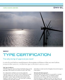 wind turbine type certification