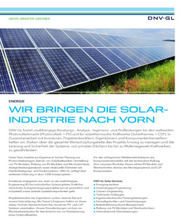 Download our Solar services brochure for more information